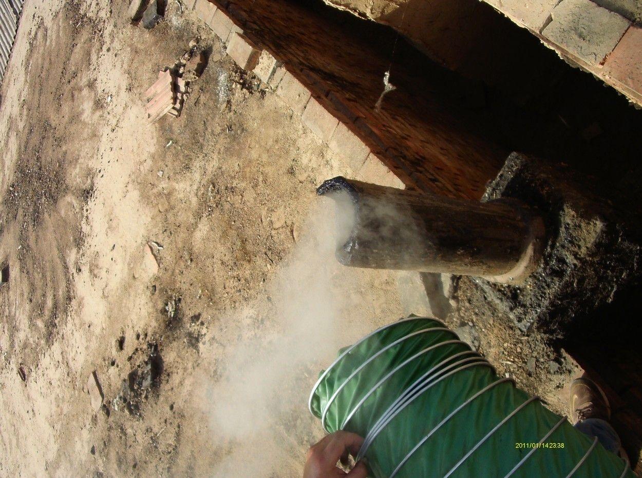 烟气净化设备中烟气进口处